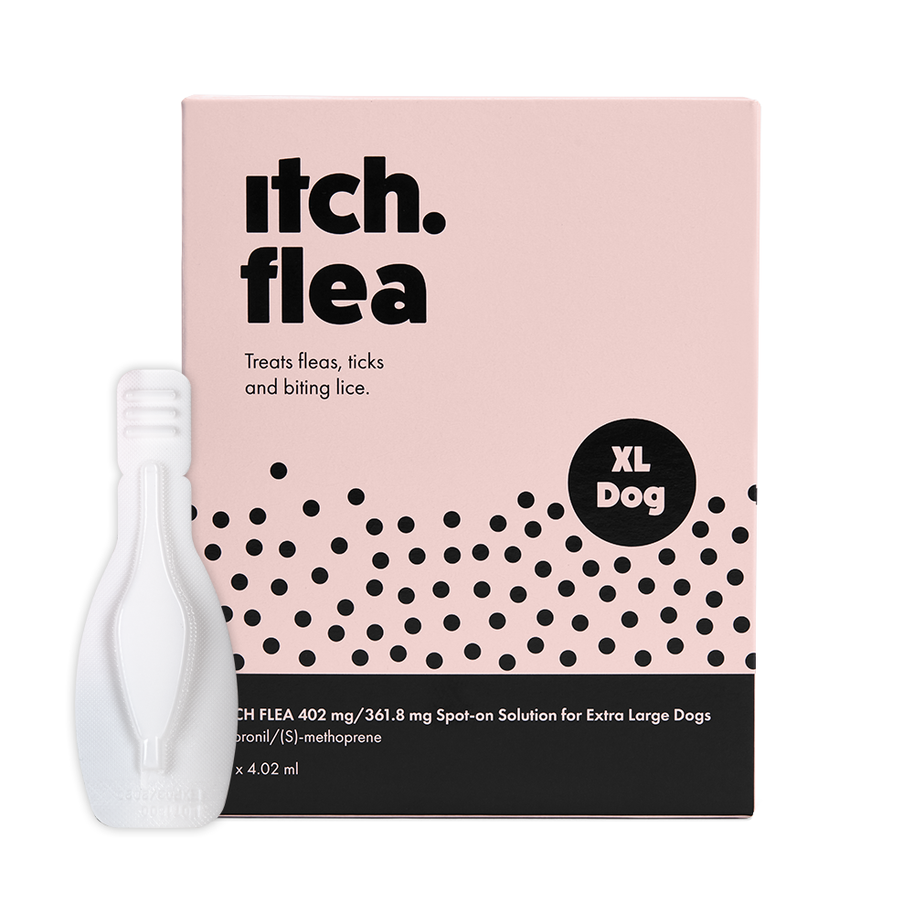 Itch Flea treatment for extra large dogs